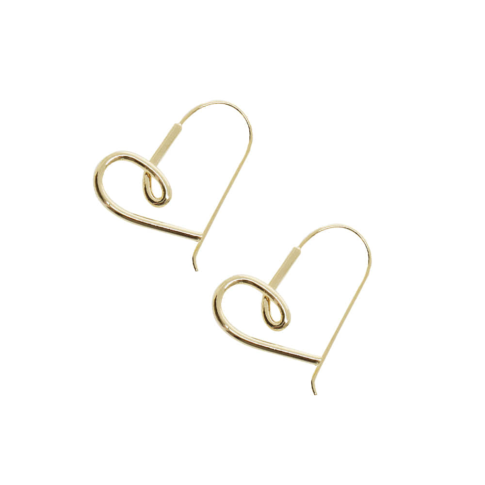 Heart Wave Earrings