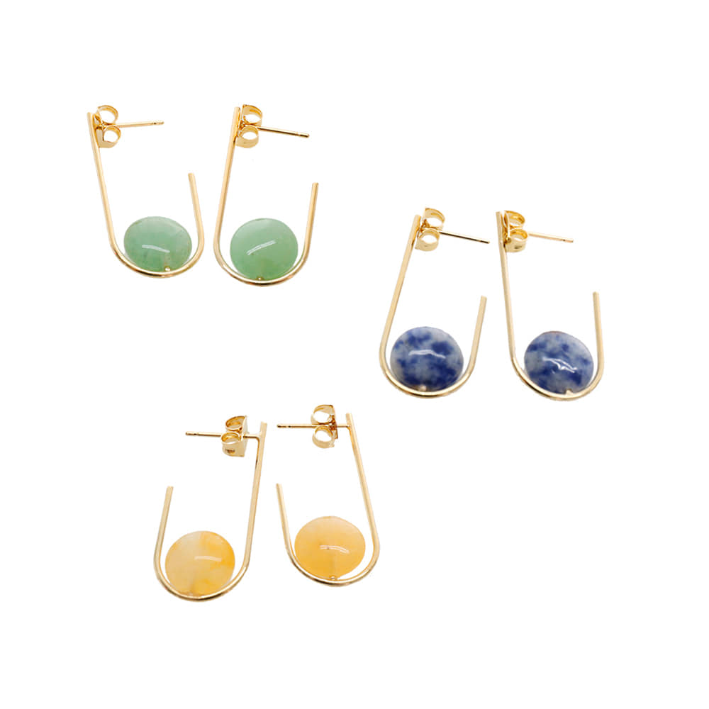 Color Gemstone Earrings