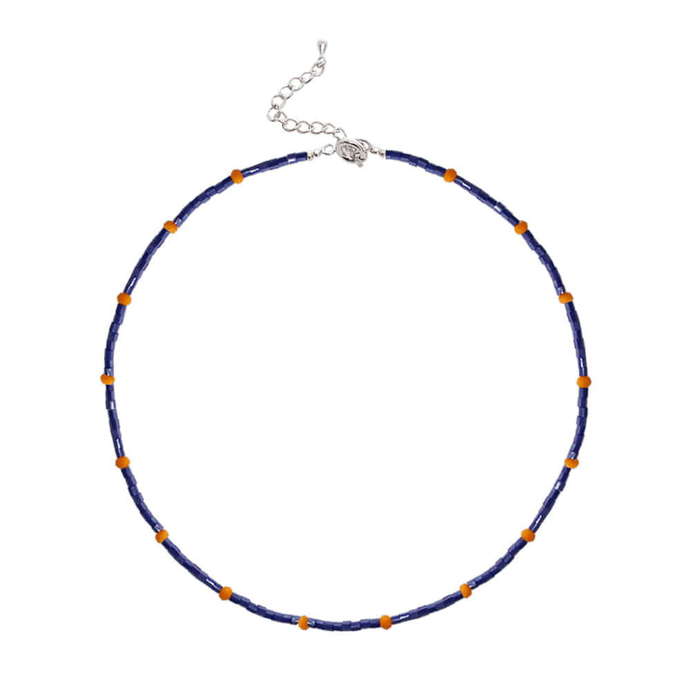 Color Beads Chocker Necklace